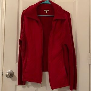 Croft and barrow red zip up sweater